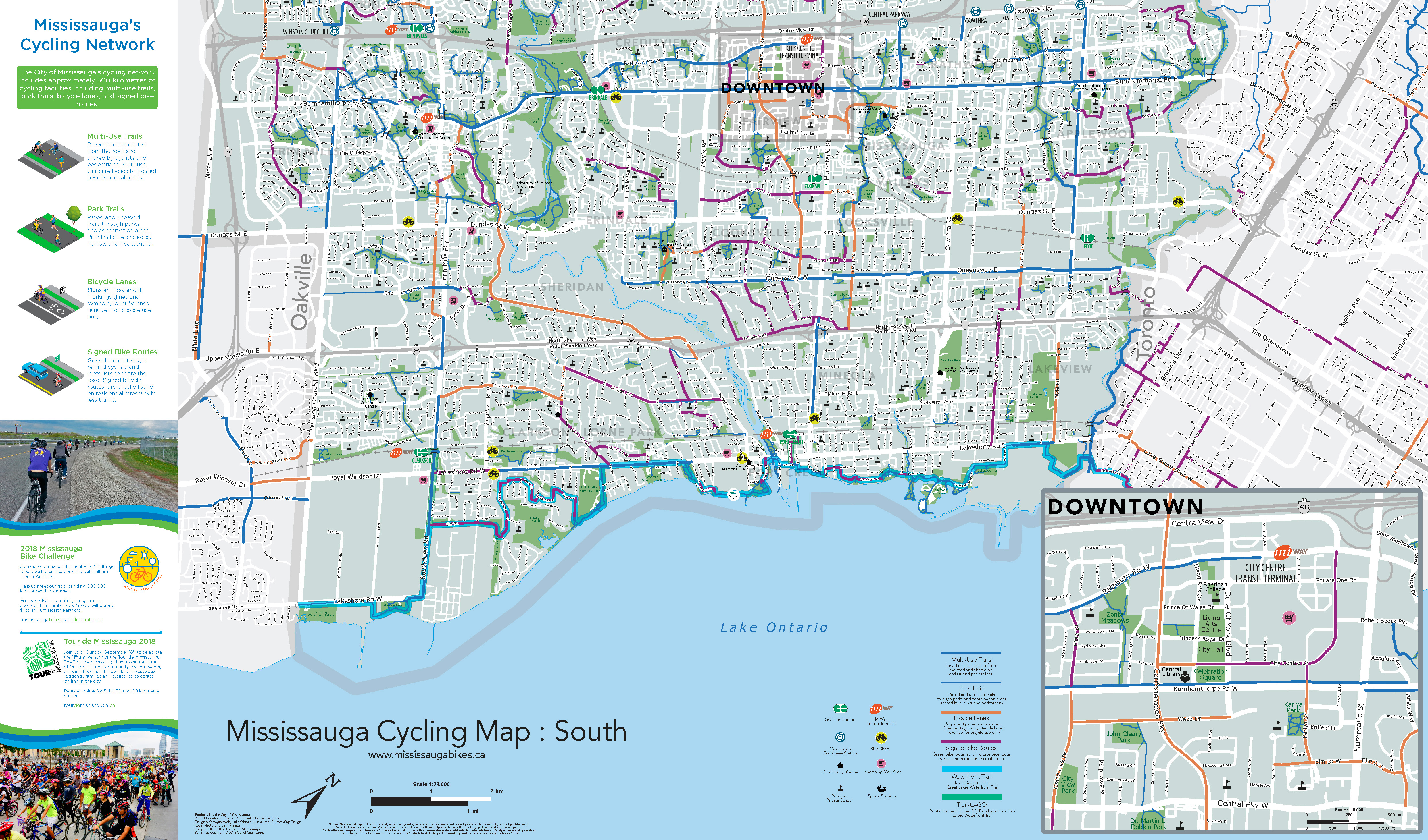 Cycling Map Mississauga Bikes